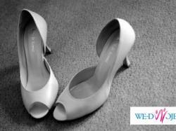 Piękne buty ślubne Arti di Roma skóra ecru
