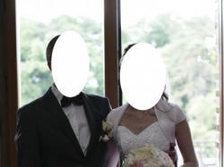 Pięknie zdobiona suknia ślubna 36 welon, halka i bolerko