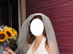 Pięknie zdobiona suknia ślubna roz. 38 biała z trenem + gratisy