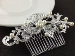 Piękny grzebień do włosów ślub, wesele ...