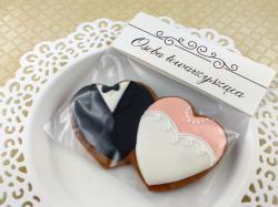 Pierniczki ślubne, podziękowania dla gości, słodki stół