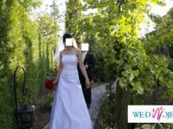 pilnie sprzedam suknię ślubną, welon gratis