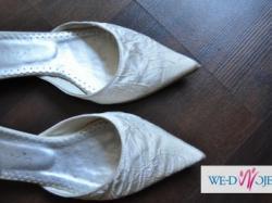 Płaskie buty ślubne