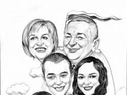 Podziękowanie dla rodziców Portret lub karykatura