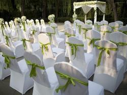 Pokrowce na krzesła wynajem wesele komunia