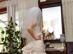 powalająca suknia ślubna
