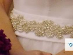 Princesska - Subtelna i elegancka suknie ślubna plus halka i zdobiony pas