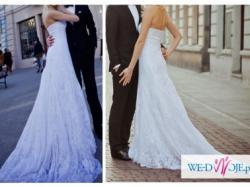 Pronovias Suknia Ślubna- hiszpańska koronka - Klasyczna elegancja