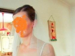 Prosta suknia ślubna kolor ivory rozmiar 38