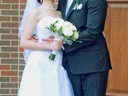 Przepiękna, bajkowa suknia ślubna wraz z welonem, butami i biżuterią
