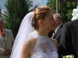 Przepiękna biała suknia ślubna - rozmiar 36
