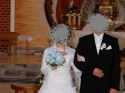 przepiękna biała suknia ślubna warto!