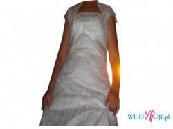 przepiękna, delikatna suknia ślubna