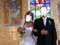 Przepiękna dwuczęściowa suknia ślubna