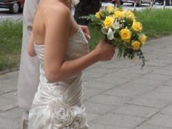 Przepiękna i bardzo oryginalna suknia ślubna