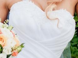 Przepiękna i subtelna suknia ślubna,rozmiar 34/36
