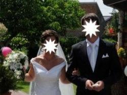Przepiękna jedwabna suknia ślubna