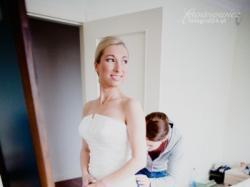 Przepiękna jedwabna suknia ślubna FARO z kolekcji LA SPOSA 2009