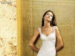 """przepiękna koronkowa hiszpańska skunia ślubna """"latina"""" z kolekcji Manuela Mota"""