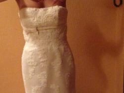PRZEPIEKNA Koronkowa Suknia Z Kamykami Swarovskiego