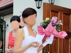przepiękna krótka suknia ślubna