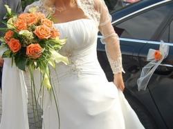 Przepiękna muślinowa suknia ślubna