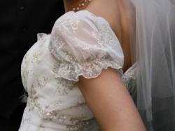 Przepiękna romantyczna kremowo-platynowa suknia ślubna!!!!!