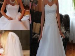Przepiękna śnieżnobiała suknia ślubna