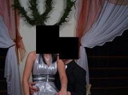 Przepiękna Srebrna Sukienka:)