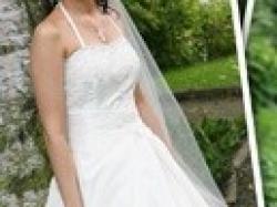 przepiękna suknia ecru dla filigranowej - Kraków