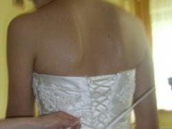 Przepiękna suknia Santander firmy La Sposa - prosto z salonu, śmietankowe ecru