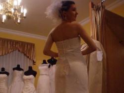Przepiękna suknia SINCERITY 3503  z bolerkiem rozm. 34
