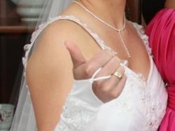 Przepiękna suknia ślubna 34/36 + gratisy