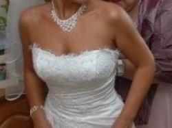 Przepiękna suknia ślubna, bogato zdobiona z kolekcji DEMETRIOS
