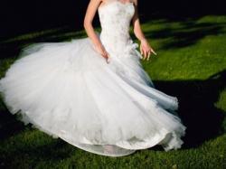 Przepiękna SUKNIA ślubna Carmen, seksowna PRINCESSA, śmietanowa biel!!!