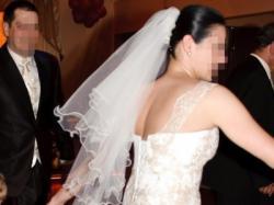 *** Przepiękna suknia ślubna ecru + gratisy ***