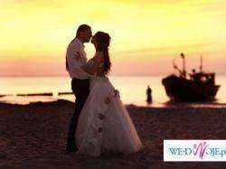 Przepiękna suknia ślubna, ercu, bez trenu