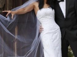 Przepiękna suknia ślubna Herm's Dual, rozm. 36, biała