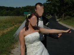 Przepiękna suknia ślubna koloru jasnośmietankowego rozmiar 38