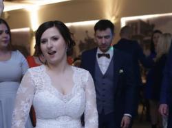 Przepiękna suknia ślubna - Kształt litery A - Z koronką - Ręczne zdobienia + koło