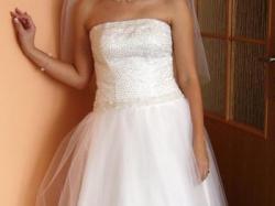 Przepiękna suknia ślubna na wzrost 160 cm