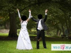 Przepiękna Suknia Ślubna rozmiar 38-40 ->STAN IDEALNY