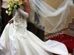 Przepiękna suknia ślubna Serenada + gratisy