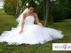 Przepiękna suknia ślubna szyta na indywidualne zamówienie