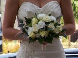 Przepiękna suknia ślubna w kolorze ecru!