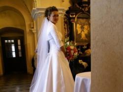 przepiękna suknia ślubna w stylu Dono - Papa Michel, rozmiar 38-40