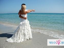 Przepiękna suknia ślubna w stylu hiszpańskim! rozm.36