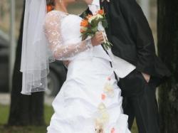 Przepiękna suknia ślubna według własnego projektu