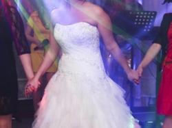 Przepiękna suknia ślubna własnego projektu.