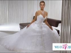 Przepiękna suknia ślubna z kolekcji książęcej z USA! Niesamowity efekt!! POLECAM